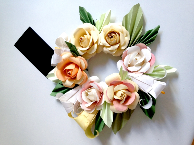 how to make a floral wreath