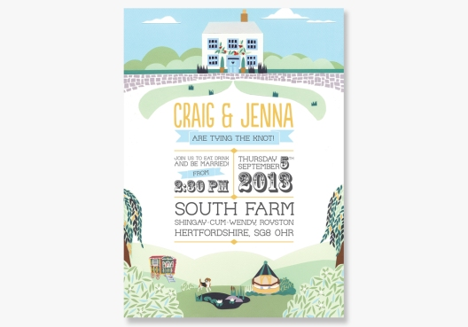 music festival inspired wedding invitations