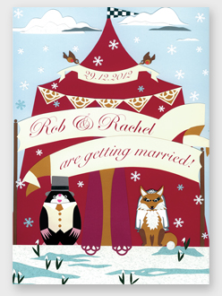 bespoke wedding stationery: fox and mole