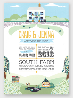 gypsy caravan wedding invitation