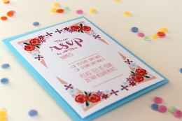 Peachy Keen Stationery for Retro Weddings