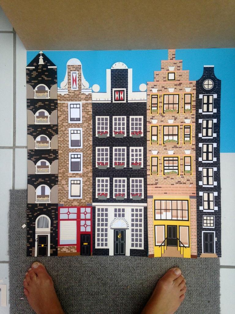 Amsterdam travel poster