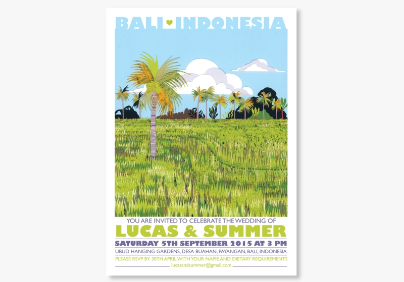 Bali wedding invitations