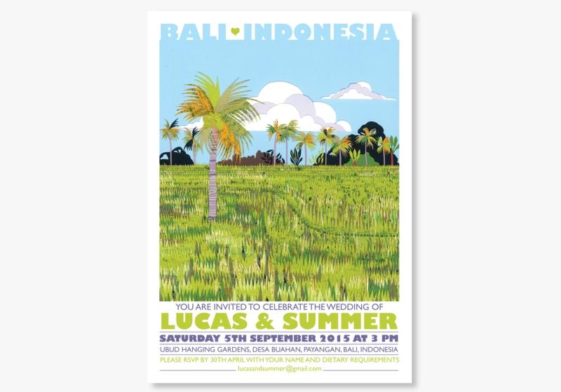 Bali wedding invitations