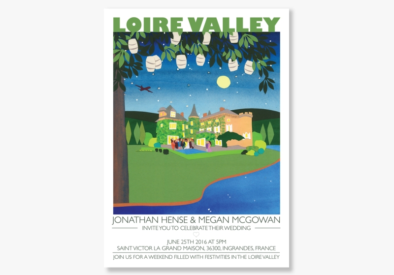 Image of Loire Valley wedding invitations