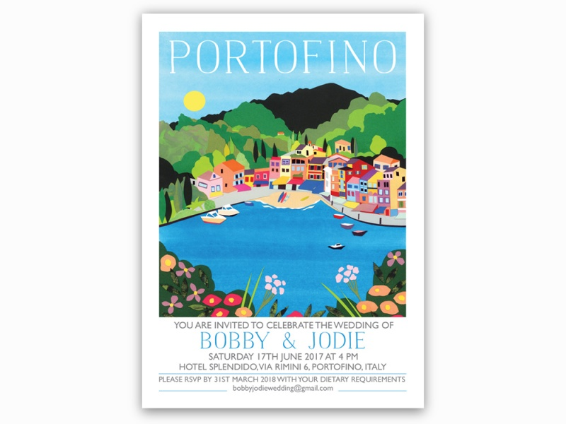 Picture of Portofino Destination Wedding Invitations